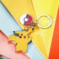 Pikachu kulcstartó Pokélabdával - Sárga