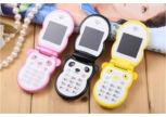 Aranyos mini panda kártyafüggetlen dual SIM flip mobiltelefon