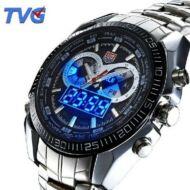 TVG KM-468 férfi Rozsdamentes acél speciális LED karóra - Fekete