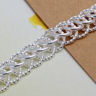 Egymásba fonódó karika mintás láncos női karkötő - 21 cm * 1.1 cm