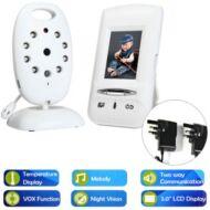 EU Raktár - E808 Plus 2.0 inch LCD baba monitor - UK csatlakozó Fehér