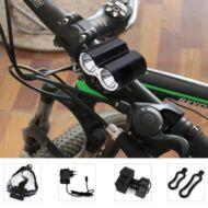 DARK KNIGHT LR-2 1600Lm 4 fokozatú LED bicikli lámpa EU csatlakozó - Fekete