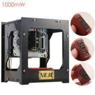 NEJE DK-8-KZ 1000mW USB lézer gravírozó gép - Fekete