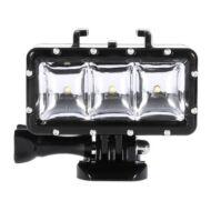 LINGLE L15 300LM vízálló LED lámpa sportkamerához - Fekete
