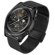NO.1 S9 Bluetooth 4.0 okosóra - Acélszíj, Fekete