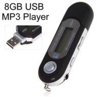 Mini LCD kijelzős USB  MP3 lejátszó FM rádió 8GB - Fekete