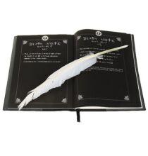 Death Note Cosplay 3 darabos Füzet CD Madártoll szett - Fekete