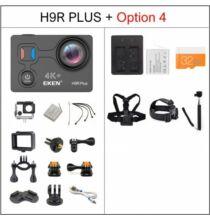 EU ECO Raktár - EKEN H9R Plus Ultra HD 4K A12 4k 30fps 1080p 60fps Vízálló WiFi Akció Kamera - Fekete + 1 Akkumulátor + 32GB Memóriakártya + Monopod + Nyak És Fejpánt