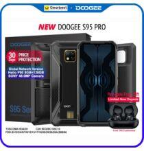 EU ECO Raktár - DOOGEE S95 Pro Helio P90 Octa Core 8GB RAM 128GB ROM Moduláris Okostelefon - Fekete