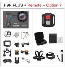 EU ECO Raktár - EKEN H9R Plus Ultra HD 4K A12 4k 30fps 1080p 60fps Vízálló WiFi Akció Kamera Távirányítóval - Fekete + 1 Akkumulátor + Táska + Monopod + Fej És Nyakpánt