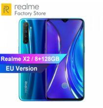 EU ECO Raktár - OPPO REALME X2 6.4inch 4G Okostelefon 8GB RAM + 128GB ROM Snapdragon 730G - Kék