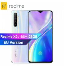 EU ECO Raktár - OPPO REALME X2 6.4inch 4G Okostelefon 8GB RAM + 128GB ROM Snapdragon 730G - Fehér