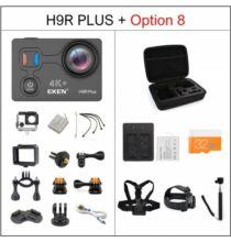 EU ECO Raktár - EKEN H9R Plus Ultra HD 4K A12 4k 30fps 1080p 60fps Vízálló WiFi Akció Kamera - Fekete + 1 Akkumulátor + Táska + Monopod + Fej És Nyakpánt + 32 GB Memóriakártya