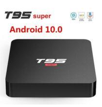 T95 Super Allwinner H3 Quad Core Smart TV BGox Android 10.0 2.4G / 5G Dual Wifi 4K H.265 2GB RAM 16GB ROM - Fekete