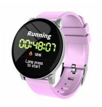 W8 Vezetéknélküli Bluetooth Okos Óra - Pink