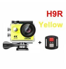 EU ECO Raktár - EKEN H9R Ultra HD 4K 25fps Vízálló Akció Kamera - Sárga + 1 Akkumulátor + 32GB Memóriakártya + Monopod + Nyak És Fejpánt