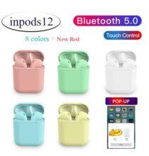 Macaron Inpods12 Vezetéknélküli Bluetooth Fülhallgató Töltő Tokkal - Rózsaszín