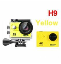 EU ECO Raktár - EKEN H9R H9 Ultra HD 4K 25fps Vízálló Akció Kamera - Sárga + 1 Akkumulátor + Táska + Monopod + Nyak És Fejpánt + 32GB Memóriakártya