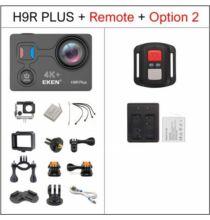 EU ECO Raktár - EKEN H9R Plus Ultra HD 4K A12 4k 30fps 1080p 60fps Vízálló WiFi Akció Kamera Távirányítóval - Fekete + 1 Akkumulátor
