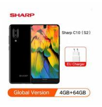 EU ECO Raktár - SHARP AQUOS C10 S2 4G Okostelefon 4GB RAM 64GB ROM Android8.0 - Fekete