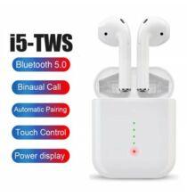 GONOKER i5 TWS Bluetooth Vezetéknélküli Fülhallgató - Fehér
