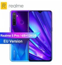EU ECO Raktár - OPPO Realme 5 Pro 6.3inch 4035mAh 48MP 16MP 4G Okostelefon 8GB RAM 128GB ROM - Kék