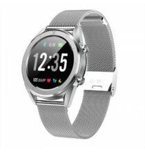 DT28 Férfi intelligens óra IP68 vízálló EKG pulzusmérő Fitness Tracker - Ezüst