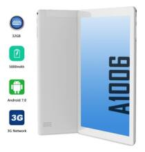 EU ECO Raktár - ANRY Android 10 inch 3G Táblagép 1GB RAM 16 GB ROM Dual SIM Card WiFi Bluetooth - Ezüst