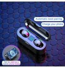 ZIYA TWS Mini Vezetéknélküli Bluetooth 5.0 Headset Töltő Tokkal - Fekete