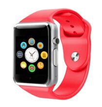 A1 SIM TF Card Vezetéknélküli Bluetooth Sport Okosóra - Piros
