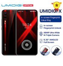 EU ECO Raktár - UMIDIGI X 6.35 inch AMOLED 48MP Triple előlapi Kamera 128GB NFC Helio P60 4150mAh Okostelefon - Piros