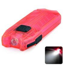 Nitecore T szériás 2 módú 45 Lumen USB tölthető LED kulcstartó zseblámpa-Pink