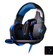EACH G2000 Sztereó Gaming headset fejhallgató 2.2m kábellel - Kék