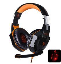 EACH G2000 Sztereó Gaming headset fejhallgató 2.2m kábellel - Narancs