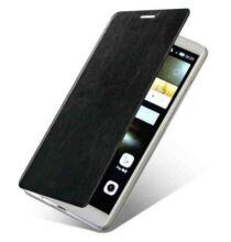 Mofi Huawei Mate7 műbőr kitámasztós tok - Fekete