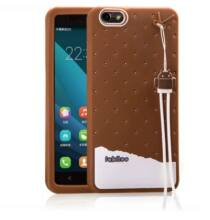 Fabitoo Huawei Honor 4X szilikon hátlapvédő pánttal - Barna