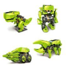 SUNLIGHT 2125 T4 4 in 1 Napelemes Dinoszaurusz Robot DIY Kit (CN) - Zöld