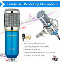 Excelvan BM-800 Kondenzátoros Stúdió Mikrofon