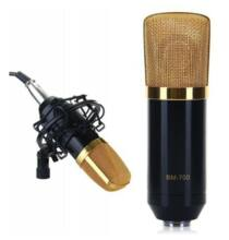 BM-700 professzionális mikrofon műanyag kerettel (CN) - Fekete