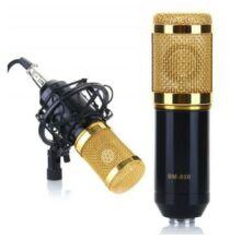 BM-800 professzionális mikrofon műanyag kerettel (CN) - Fekete