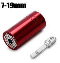 Univerzális dugókulcs - 7-19mm, Piros
