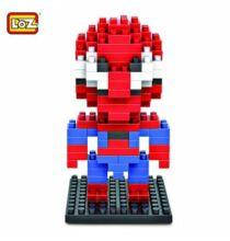 LOZ Pókember építőkocka szett - Piros