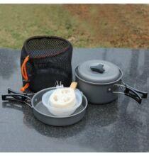 Kemping piknik főző és tároló edény készlet 8db-os