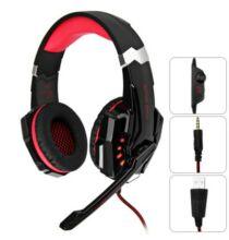 KOTION EACH G9000 3.5mm gamer headset - Piros