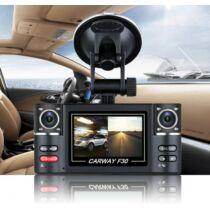 EU ECO Raktár - VO-030 HD 1080P Dual Lencsés Autós DVR Fedélzeti Dash Kamera