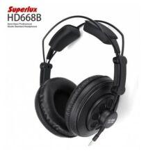 Superlux HD668B  3.5mm headset - Fekete