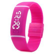 Uniszex LED sport karóra - Pink