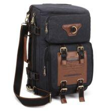 KAUKKO FH05 22L Férfi variálható vászon táska hátizsák laptop táska - Fekete