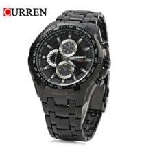 CURREN 8023 férfi Quartz karóra - Fekete