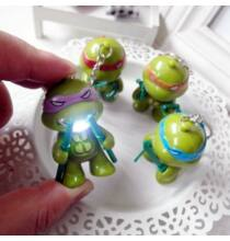 Tini Nindzsa Teknőcök LED Kulcstartó - Zöld